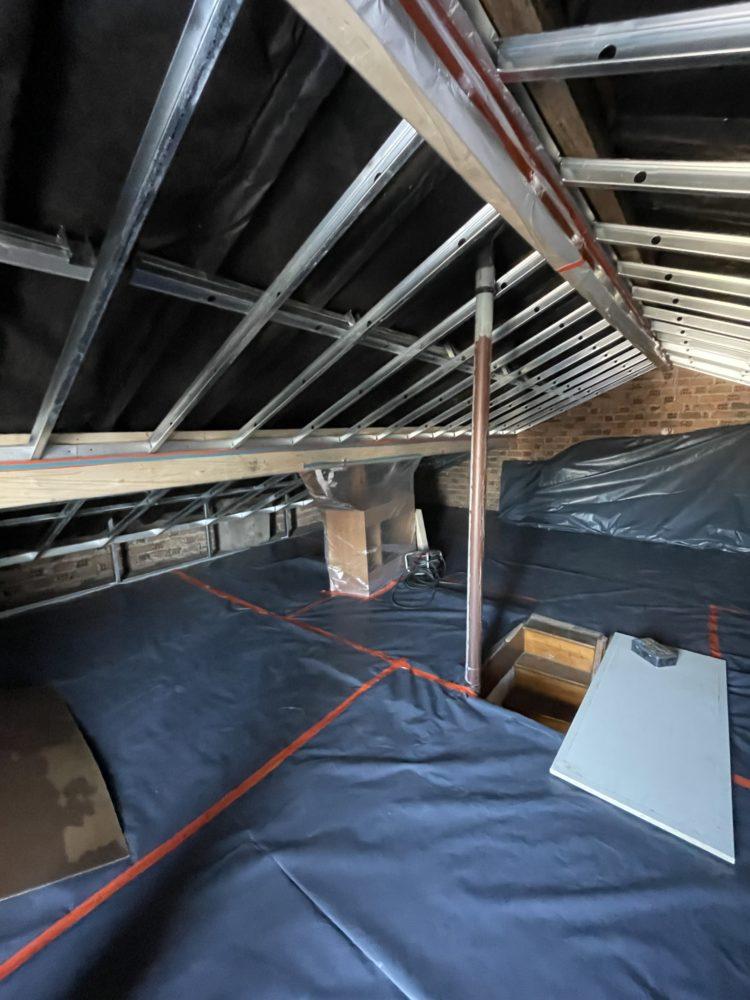Isolation de toiture - Chantraine